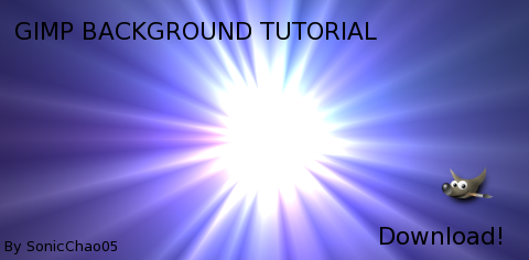 how to add in a background gimp