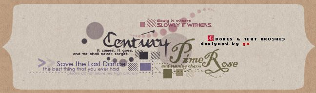 Boxes and Text Brushes by yu-resource