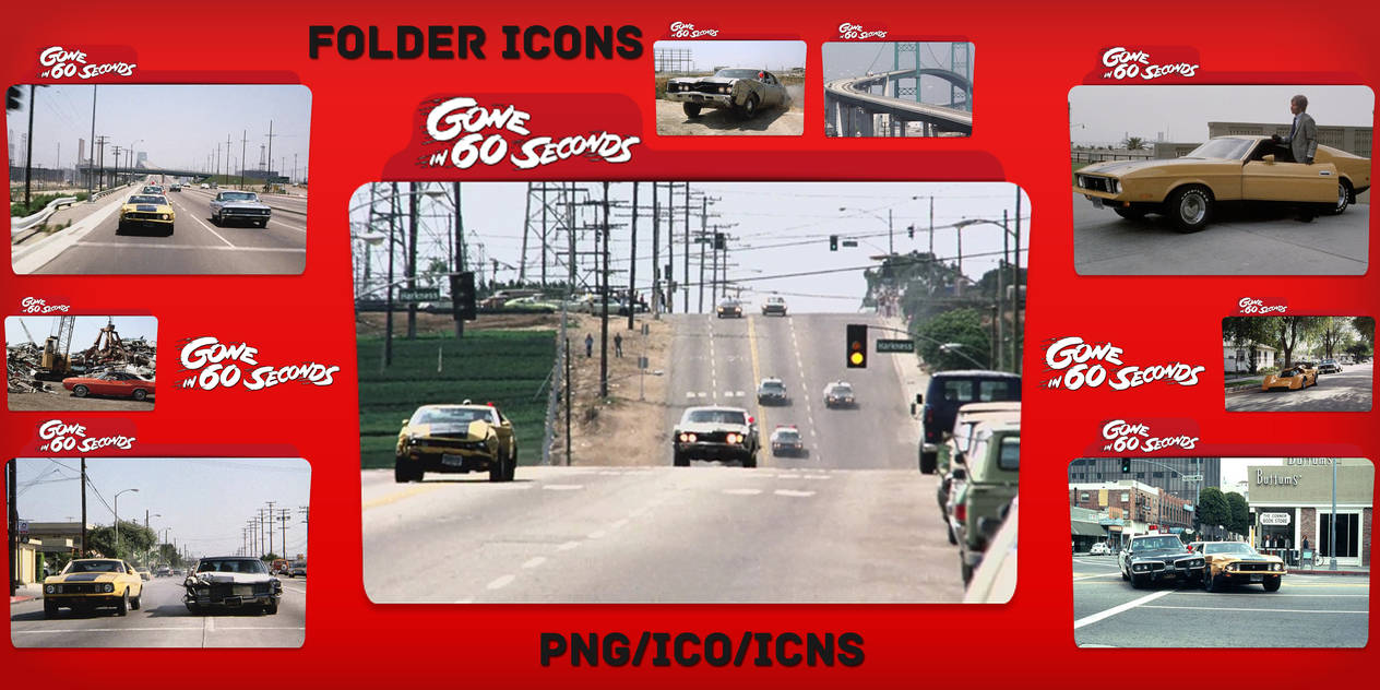 Gone in 60 Seconds (1974) Folder Icons pack by ChrisNeville32