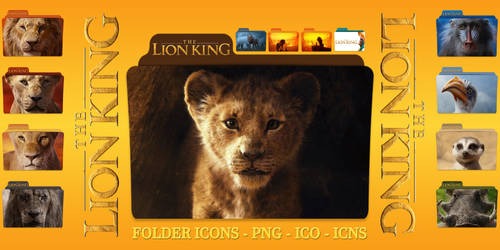 The Lion King (2019) Folder Icons pack