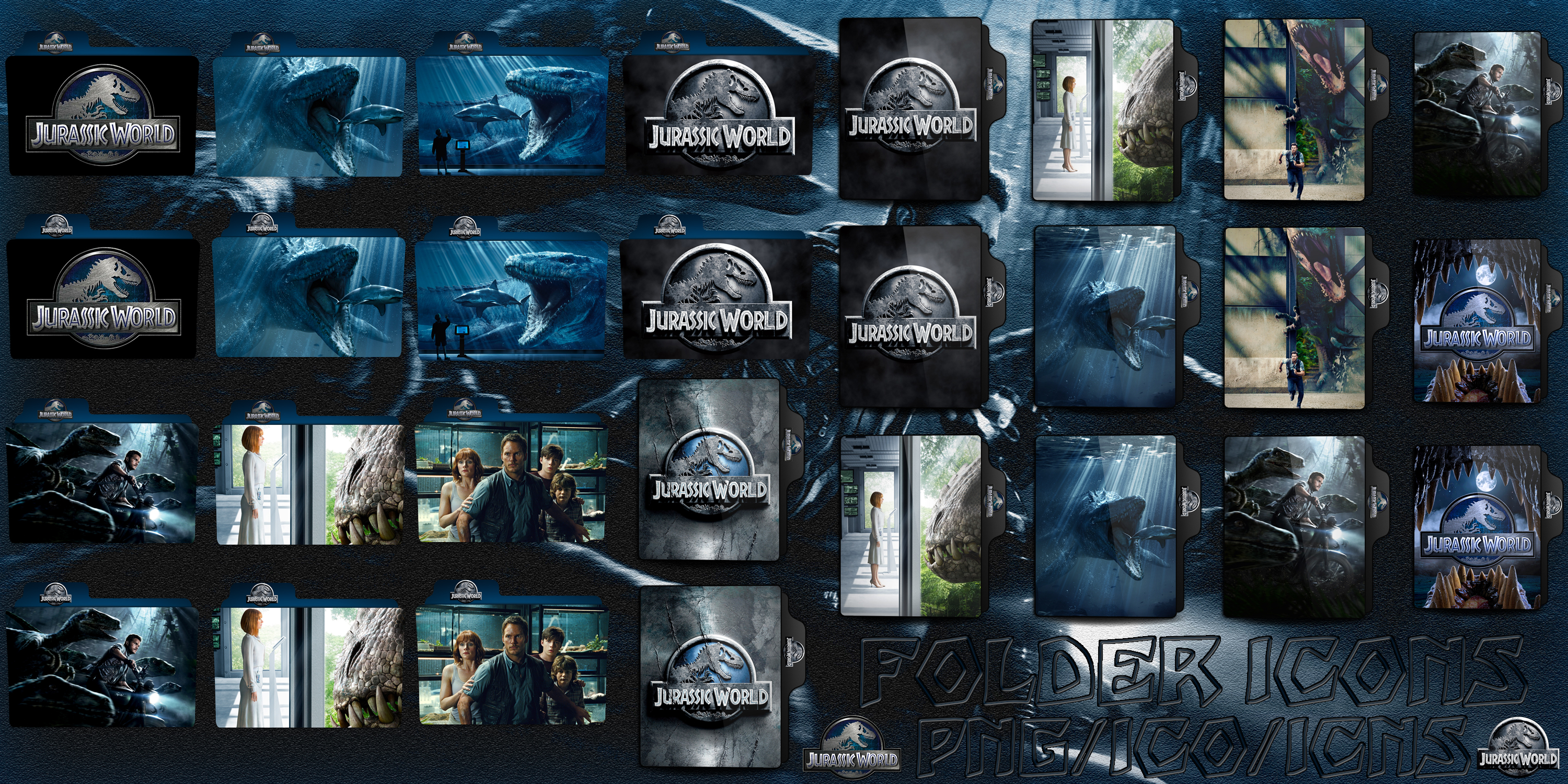 Jurassic World 2015 Folder Icons Pack By Chrisneville32 On Deviantart