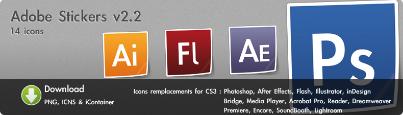 Adobe Stickers Icons V2.2 by Melo-Dzine