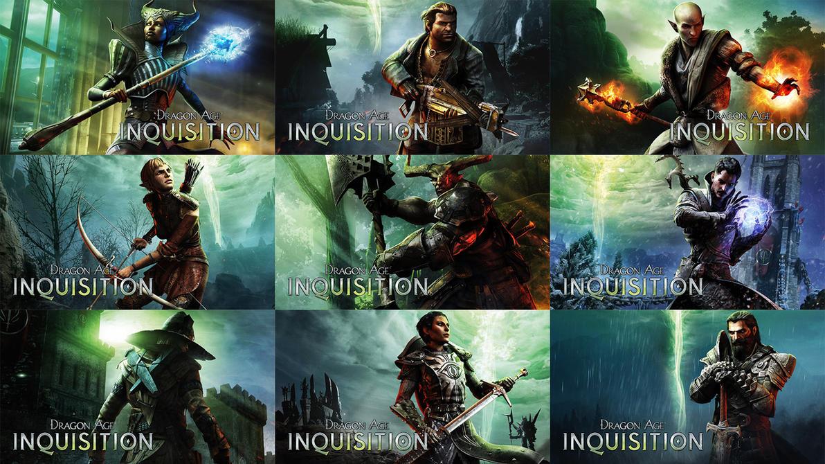 Dragon Age: Inquisition Companion Wallpapers by MatticusIV