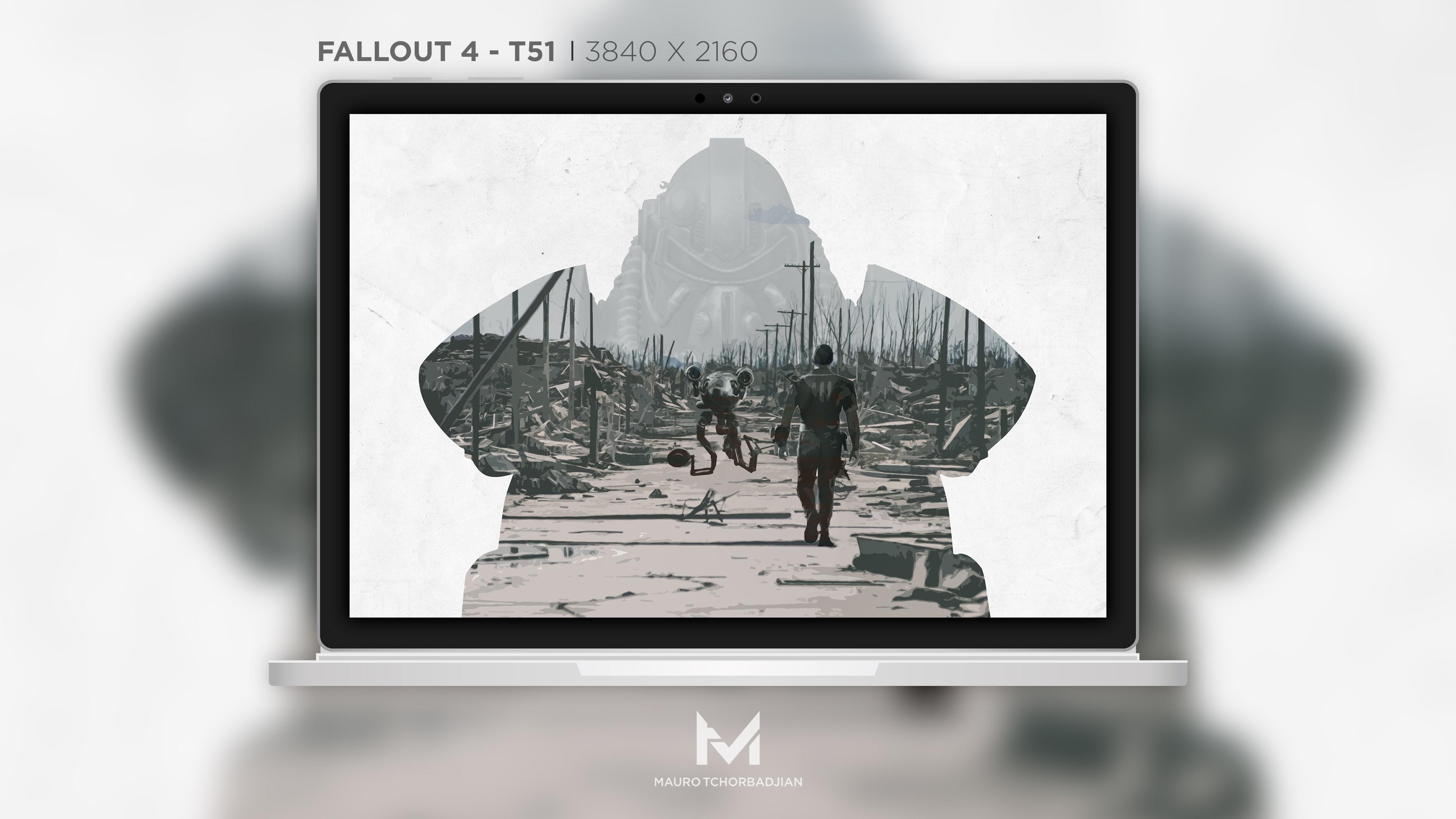 Fallout 4 - T51 - 4K Wallpaper by MauroTch