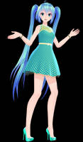 [MMD DL] TDA Cyan Dress Miku by Mario-and-Sonic-Guy