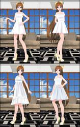 [MMD DL] TDA + WYKP OC Amy White Dress Set