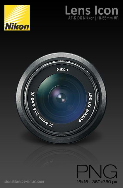 Nikon Lens Icon by shanahben