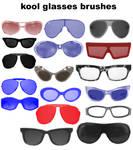 Kool glasses brushes