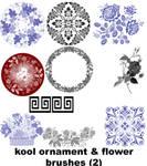 flower ornament brushes 2