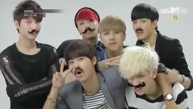 Vixx with mustaches!