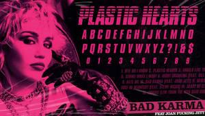 Miley Cyrus: Plastic Hearts Font