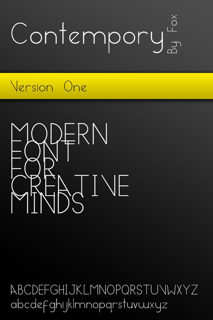 Contempory - Modern Font by MyFox