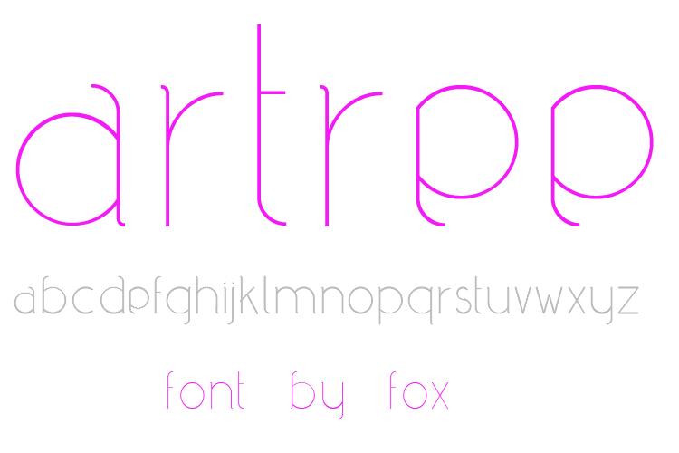 artree - font by fox