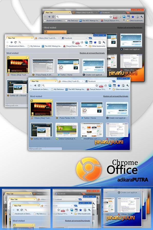 Hyuu Chrome Office 2010 by k13rayuuki