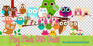 Png Pack O13 Owls by PandyCreations