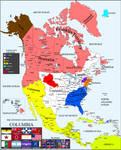 COLUMBIA - Alternate History North America map