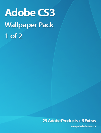 Adobe CS3 Wallpaper pack 1of2 by intemperie