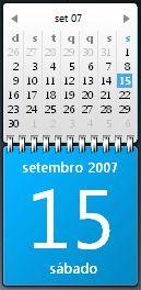 Blue Microsoft Calendar Gadget