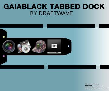 GaiaBlack Tabbed Dock