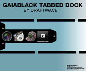 GaiaBlack Tabbed Dock by draftwave