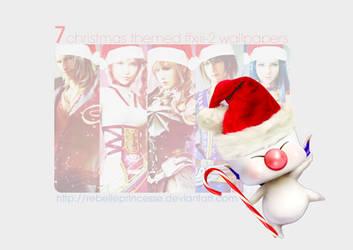 7 FFXIII-2 Christmas Wallpapers by RebellePrincesse
