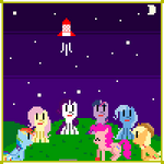 Retro Pony Pixels New Years Eve : The Game (FLASH)