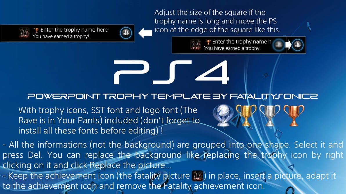 Ps4 trophy powerpoint template by fatalitysonic2 on deviantart ps4 trophy powerpoint template by fatalitysonic2 toneelgroepblik Choice Image