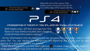 PS4 Trophy PowerPoint Template