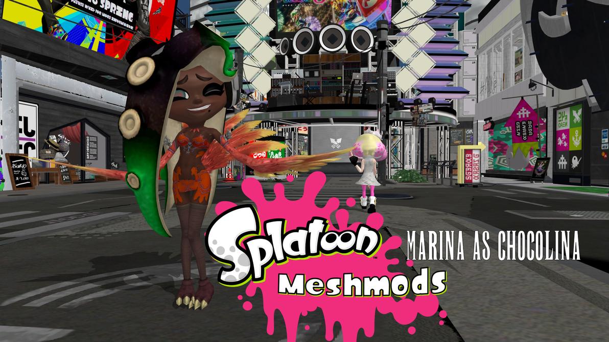 Splatoon Meshmods - Marina as Chocolina by FatalitySonic2
