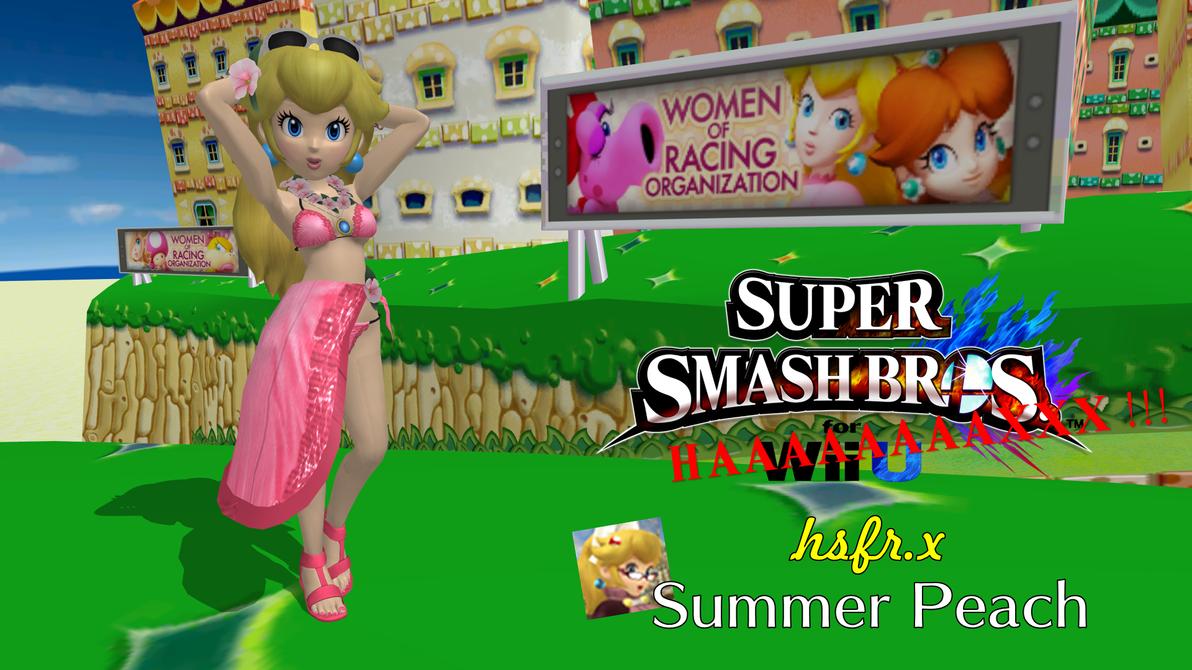 Smash 4 Mods - hsfr.x Summer Peach by FatalitySonic2