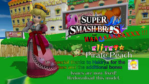 Smash 4 Mods - EliTE9 Pirate Peach (fixed) by FatalitySonic2
