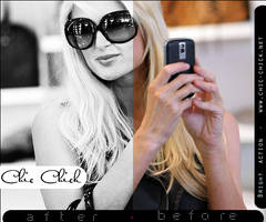 Black and White Action by Chic-Chick