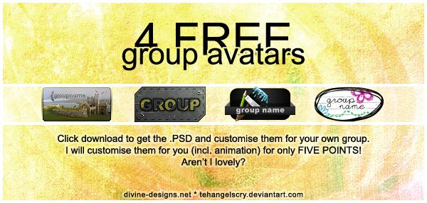 4 FREE group avatars