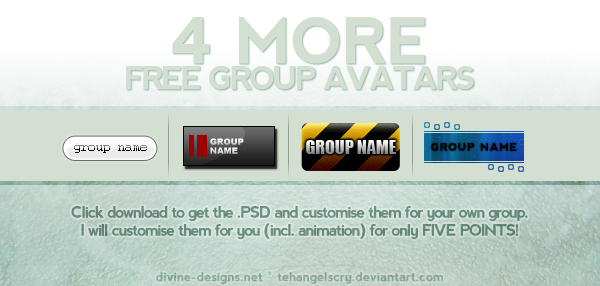 4 MORE FREE group avatars