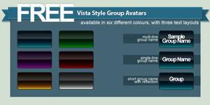 Free Vista Style Group Avatars