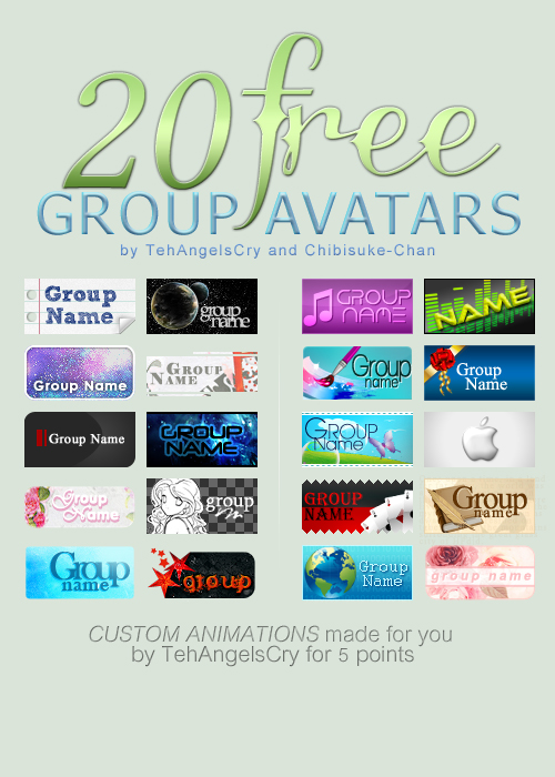 20 Free Group Avatars: Collaboration!