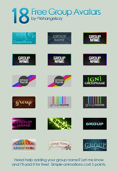18 Free Group Avatars
