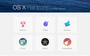 OS X Flat icons by adrianooHD