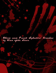 Blood and Paint Splatter by WindoftheStars
