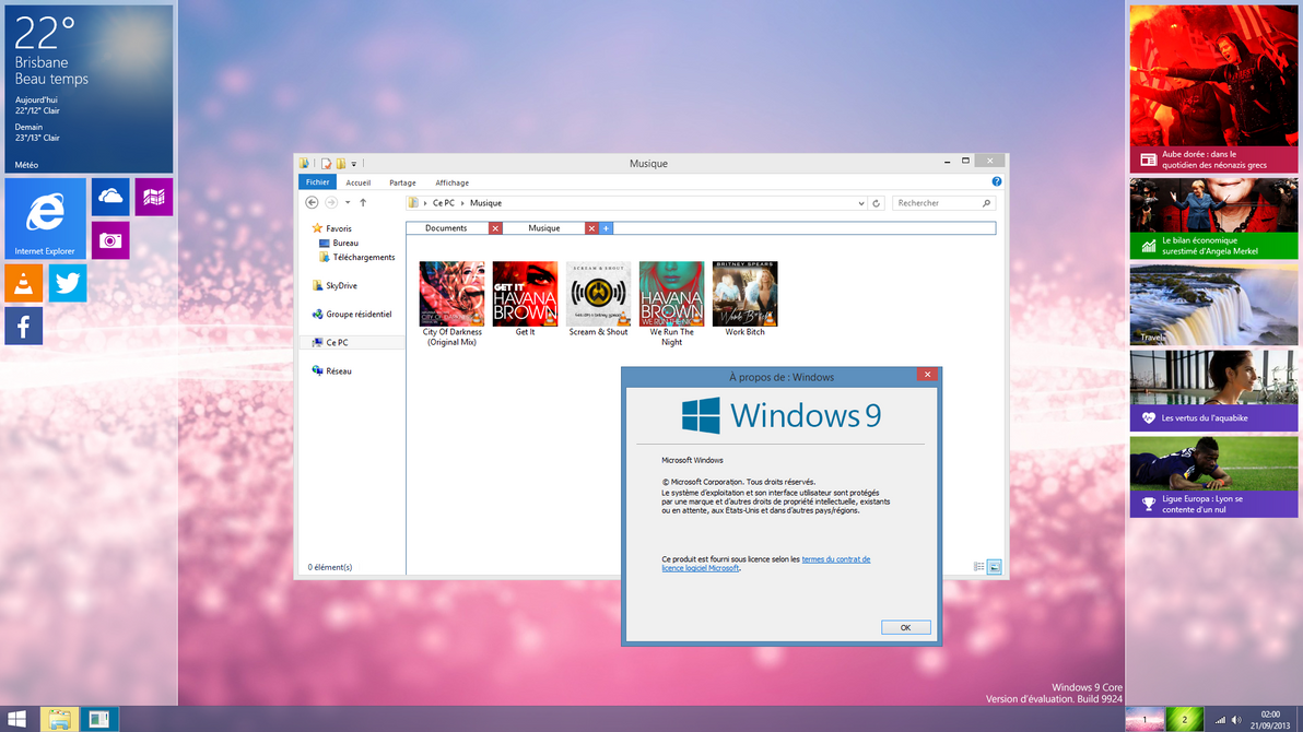 [Design] Windows 9 Core by p0isonParadise