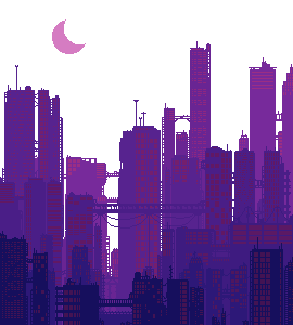{GIF} Purple Pixel City (f2u)!