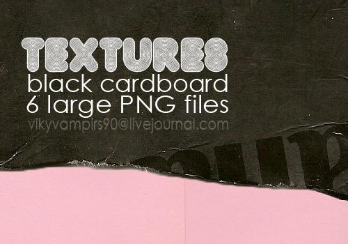 Black Cardboard by vikyvampirs90