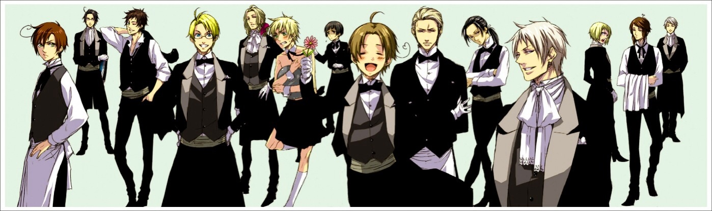hetalia x reader butler cafe intro by jessicaxchen on