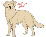 FREE: Leonberger lineart