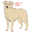 FREE: Australian Shepherd lineart