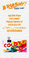 A2 Brushy - free font