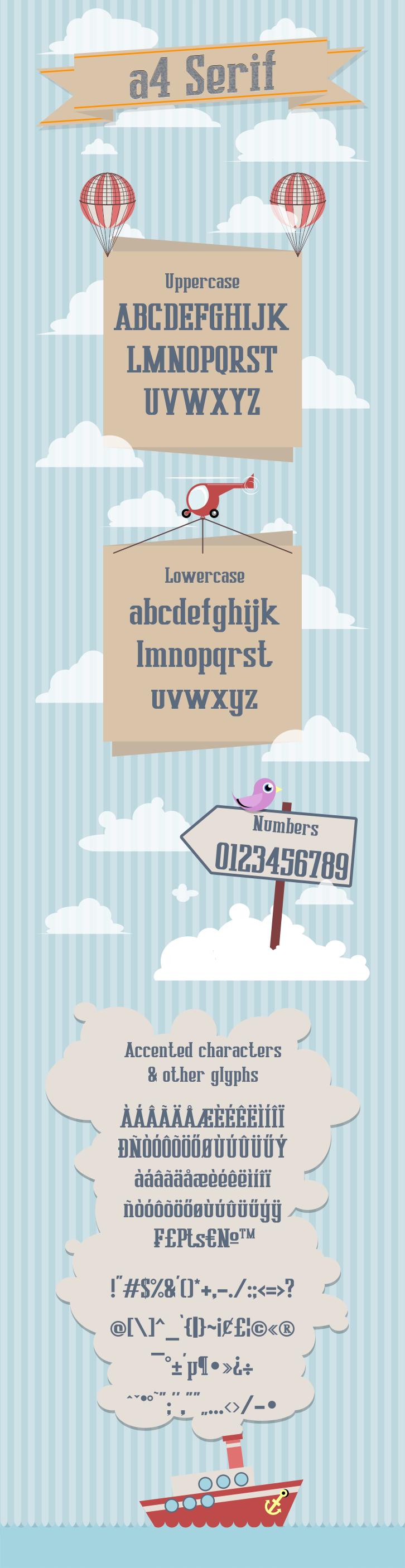 A4 Serif - Free font