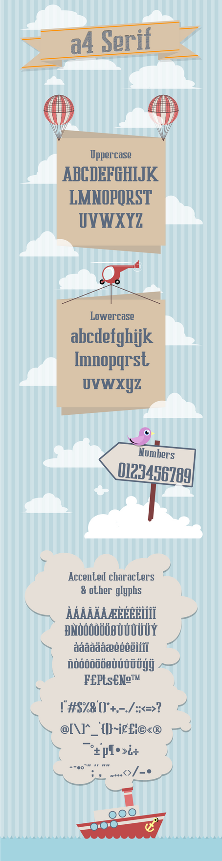 A4 Serif - Free font by anone52