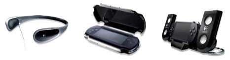 Sony PSP logitech accssories