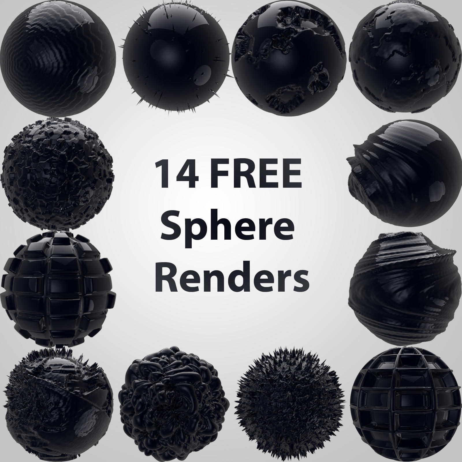 3D sphere renders by in-the-skies